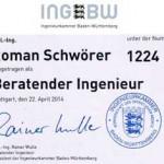 Eintragung in die Ingenieurkammer Baden-Württemberg